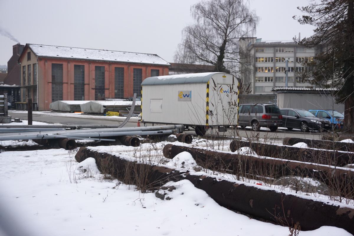 Brachland mitten im Stadtzentrum: Das EWL-Areal mit dem Hauptsitz des Energieversorgers hinten rechts im Bild.