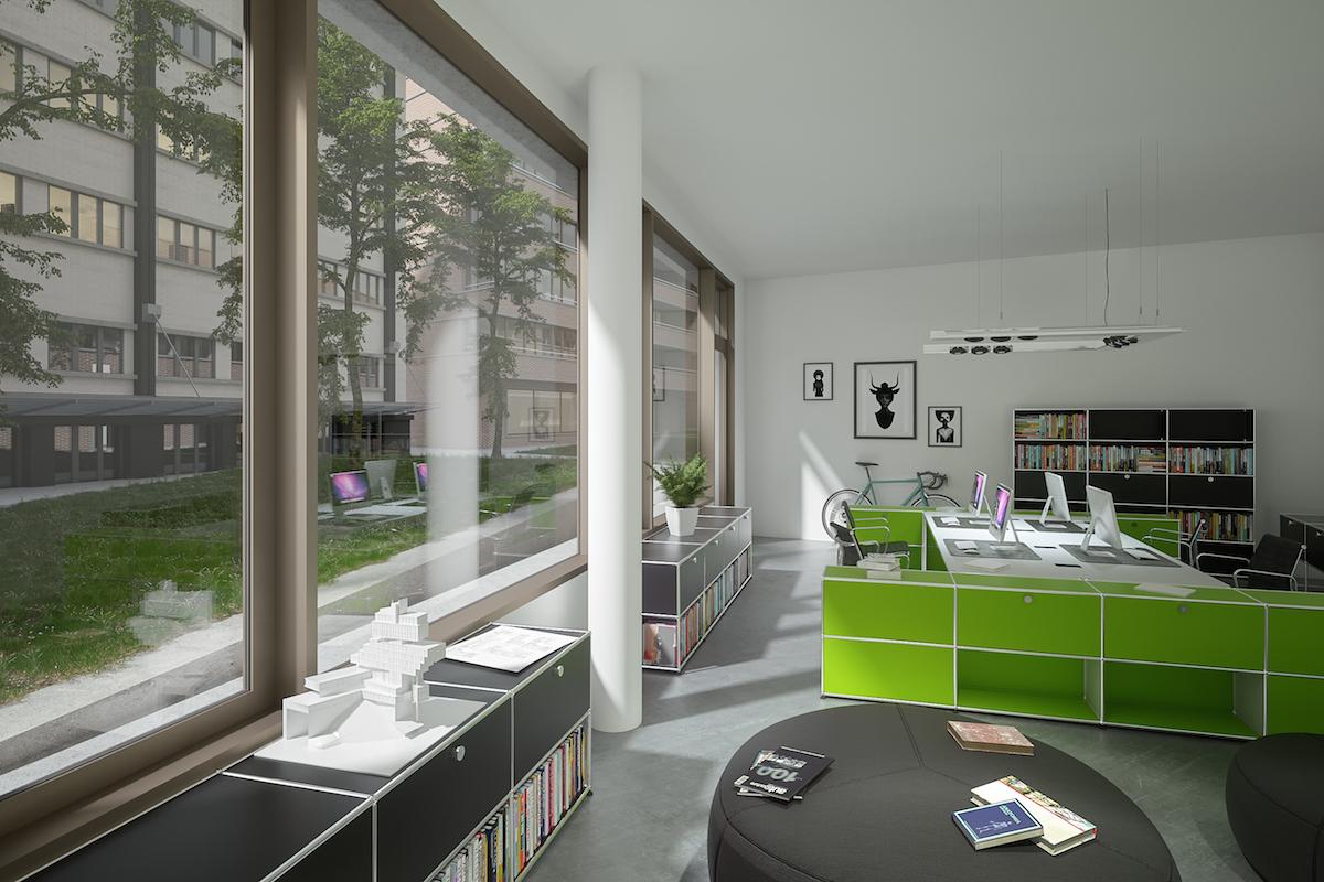 So sollen die Brünighof-Büros innen aussehen.