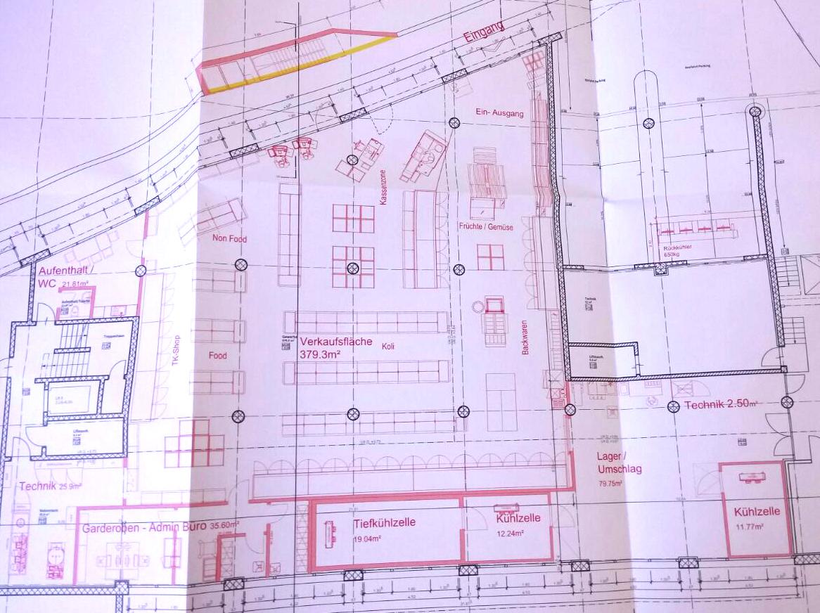 So sehen die Pläne der neuen Maihof-Migros aus, der Umbau wird im Juni abgeschlossen sein.