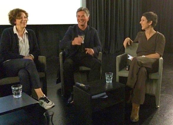 Moderatorin Monika Schärer (rechts) mit Sabine Boss und Albin Bieri im Gespräch.