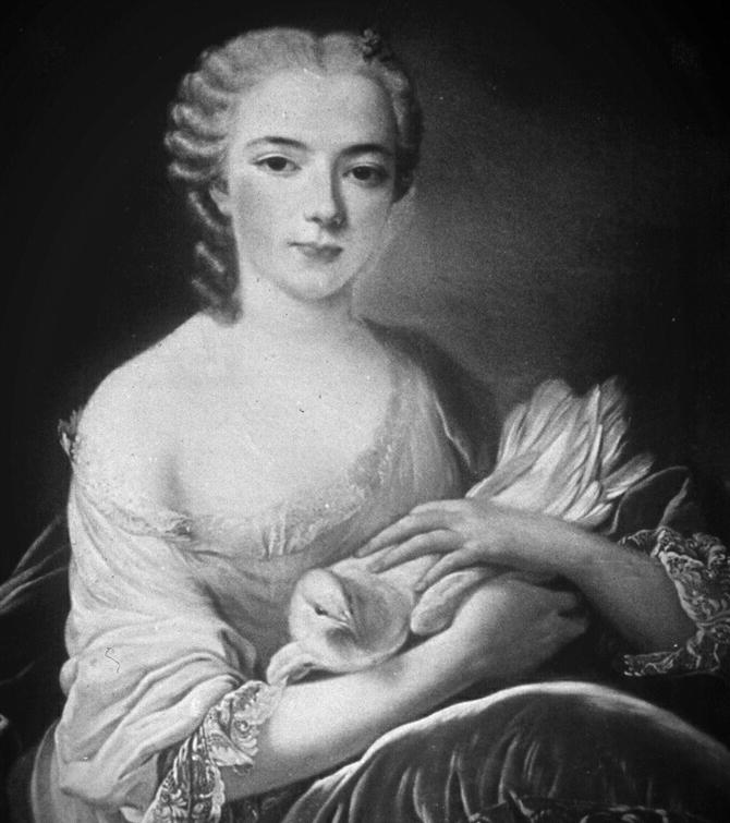 Gemälde einer vornehmen Dame. Der Überlieferung nach zeigt es die am 25. Juli 1800 verstorbene Marie Josse Pfyffer (née d'Hemel) in jungen Jahren. (Bild: Bruno Bieri)