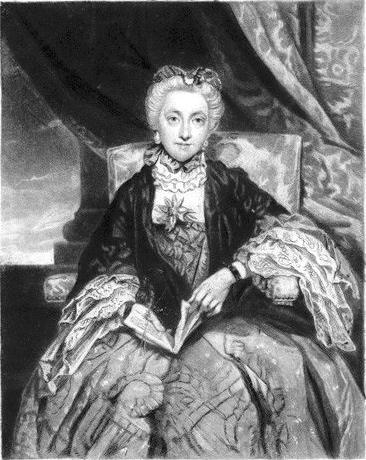 Emma Edgcumbe (née Gilbert), Countess of Mount Edgcumbe (1729–1807). Mezzotinto von 1837 nach einem Gemälde von Sir Joshua Reynolds. Sammlung National Portrait Gallery, London. (Bild: zvg. Kurt Lussi)