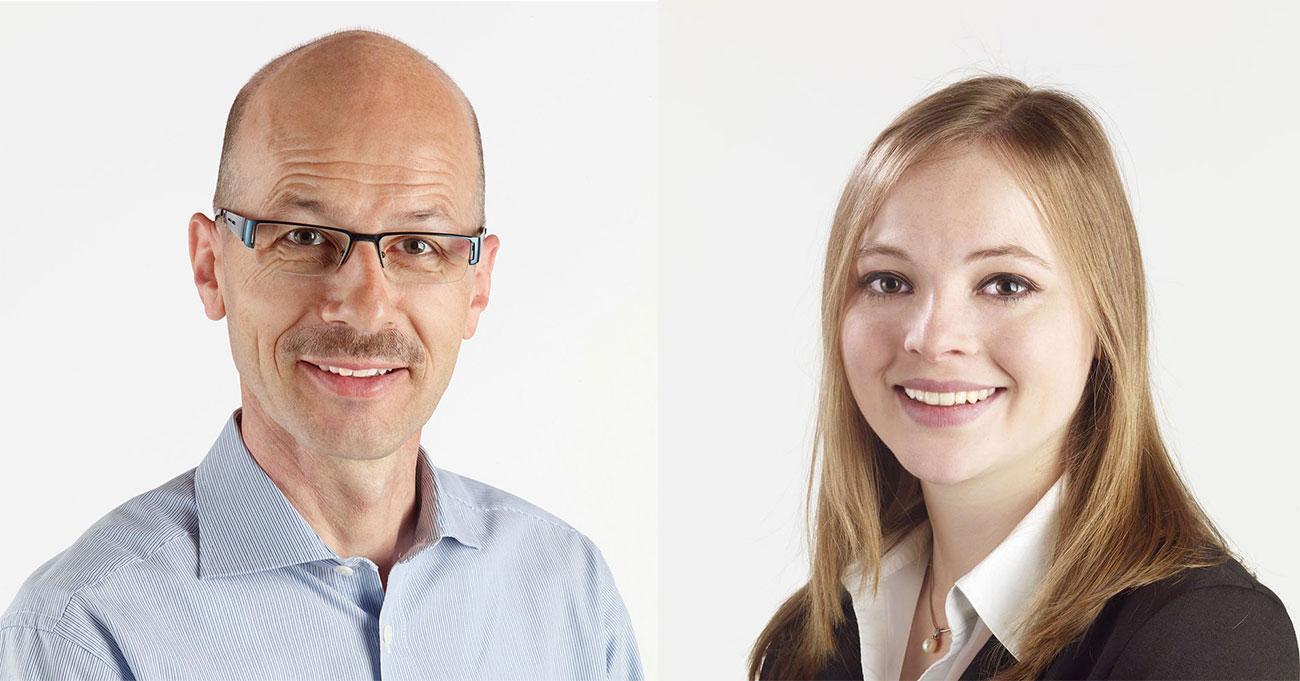 Die CVP-Kantonsräte Kurt Balmer und Laura Dittli.
