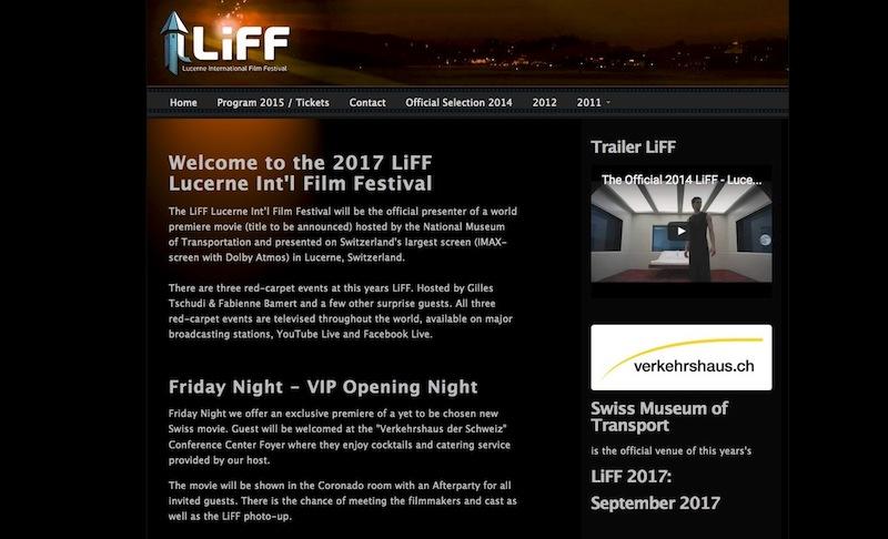 Auf der Webseite des Festivals heisst es, das Festival 2017 finde im September im Verkehrshaus statt.