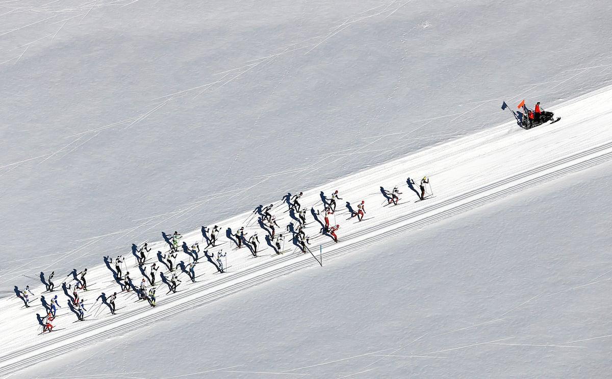 Über 13'000 Langläuferinnen und Langläufer sind am 49. Engadiner Skimarathong gestartet.