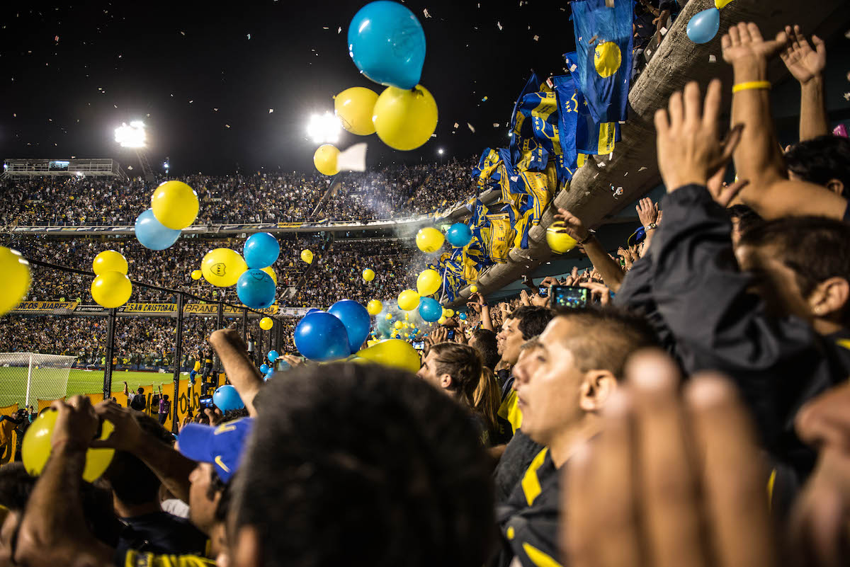 Im Stadion der Boca Juniors.