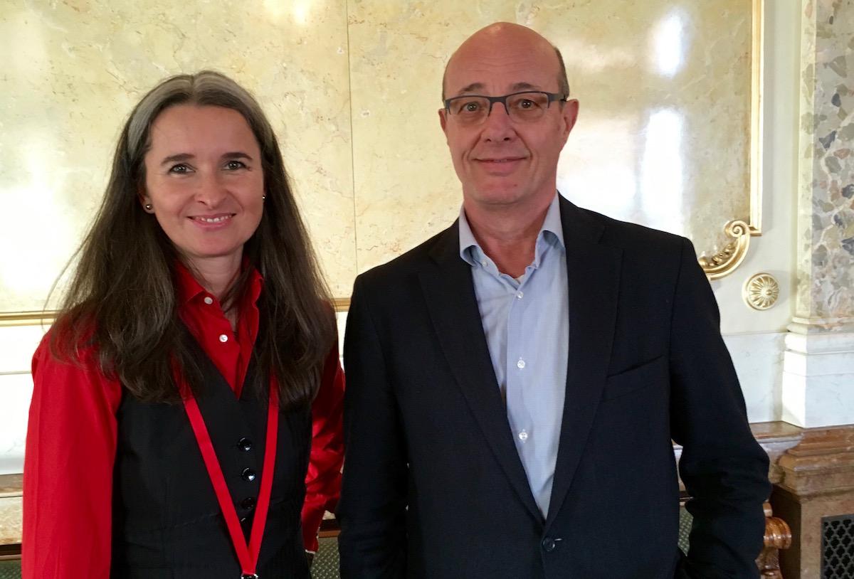 Yvette Estermann und Louis Schelbert während der März-Session.
