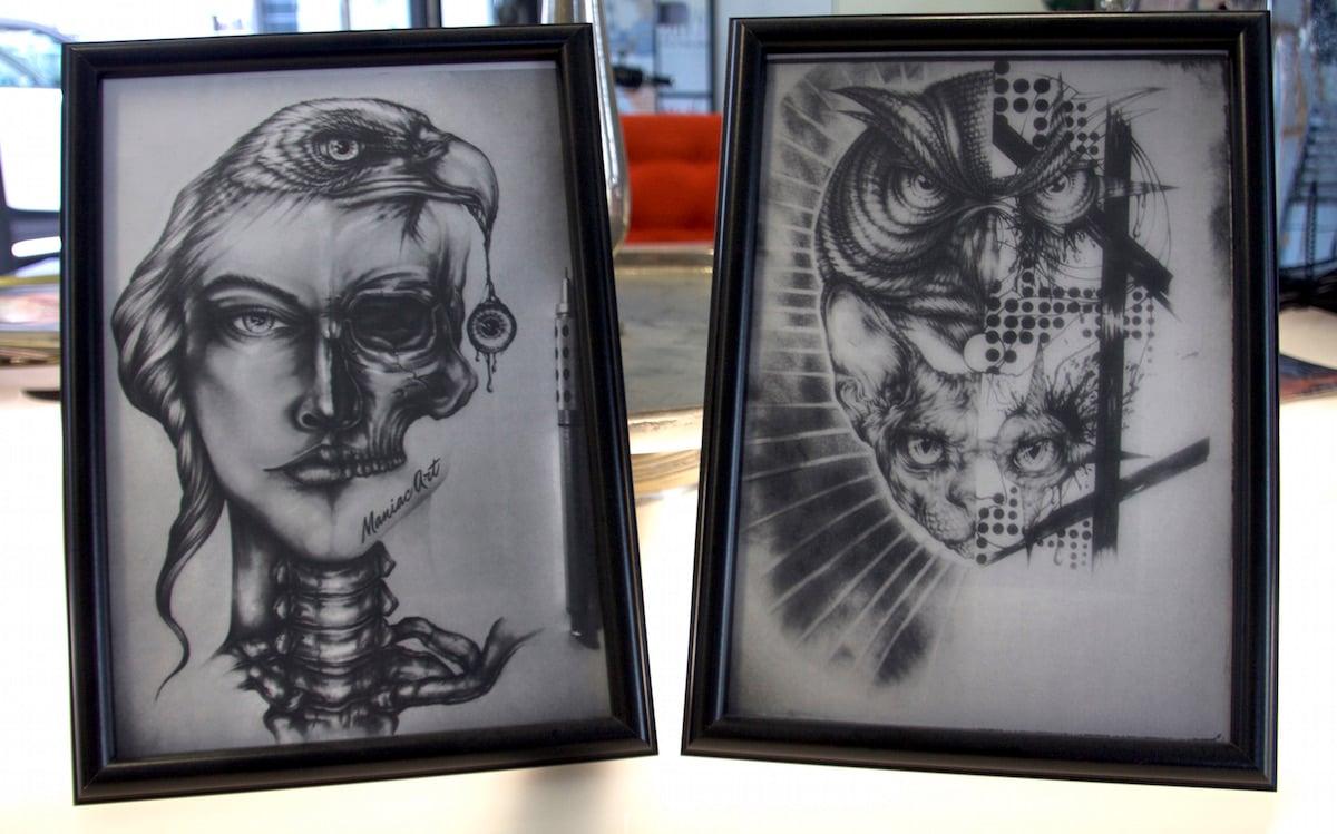 «Jack» vom Alpha Tattooshop findet besonderen Gefallen an diesen zwei utopischen Werken.