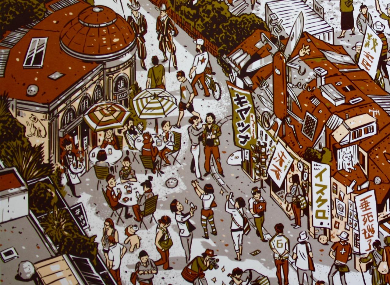 Wo sind die Hipster? Illustriert im Luzerner Wimmelbuch von Amadeus Waltensühl (vatter&vatter).