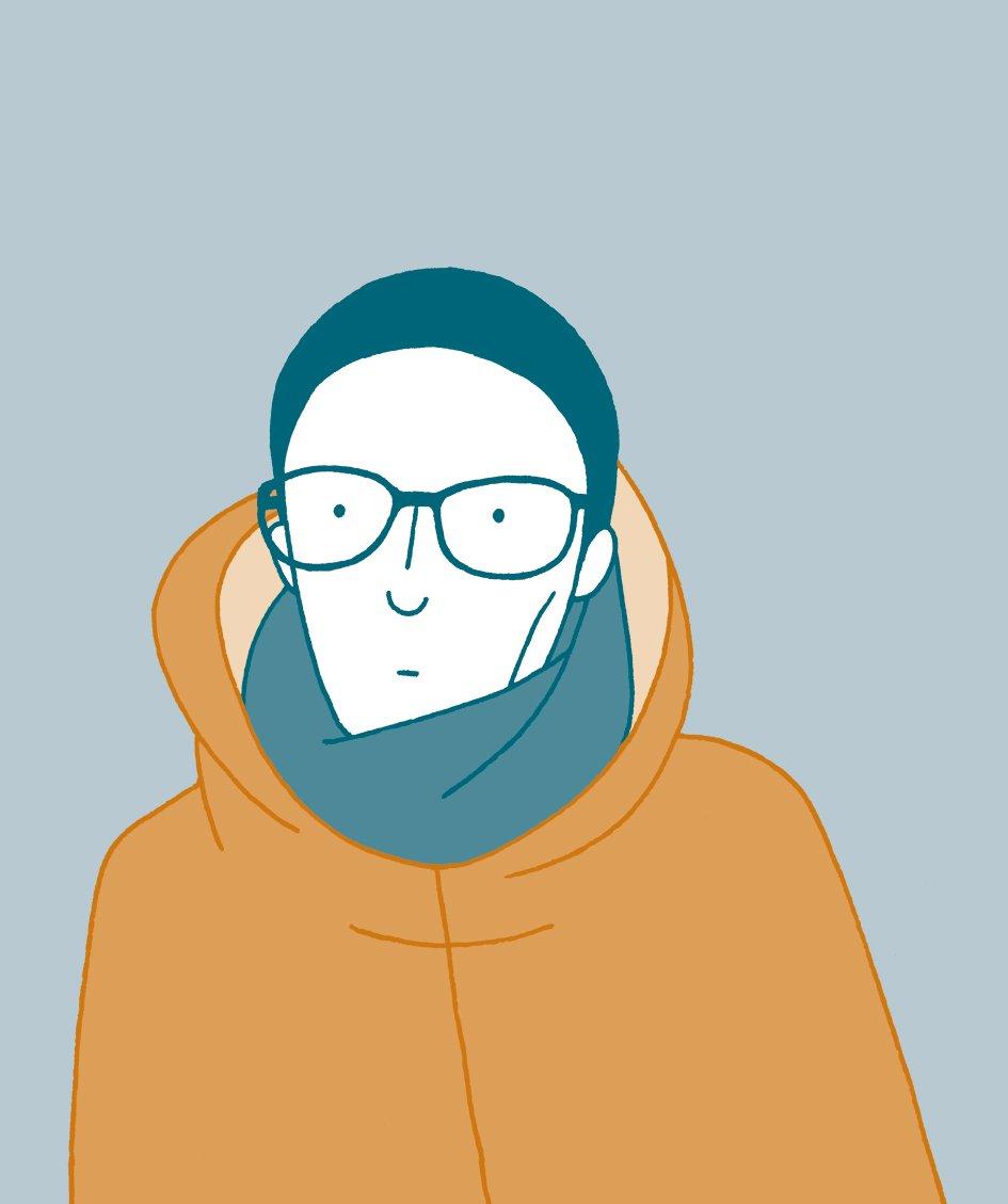 Ein Selbstporträt der Illustratorin.