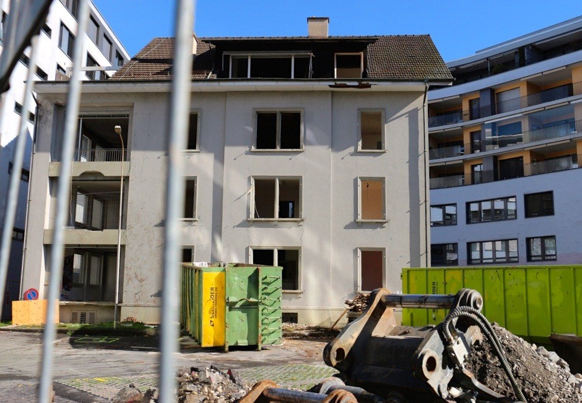 Das letzte Stündchen des Wohnhauses von 1887 hat geschlagen.