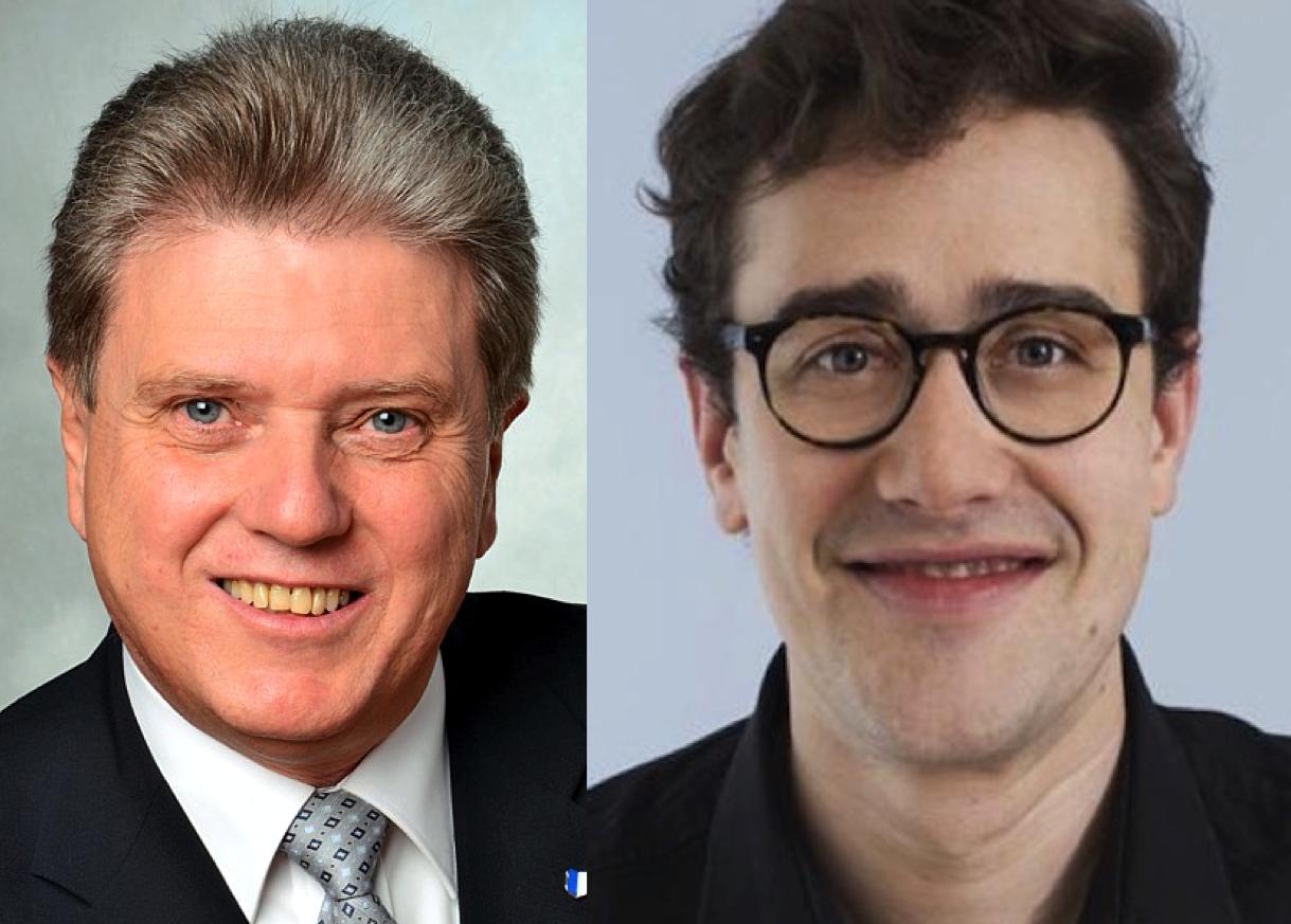SVP-Fraktionschef Guido Müller (links) und SP-Präsident David Roth.
