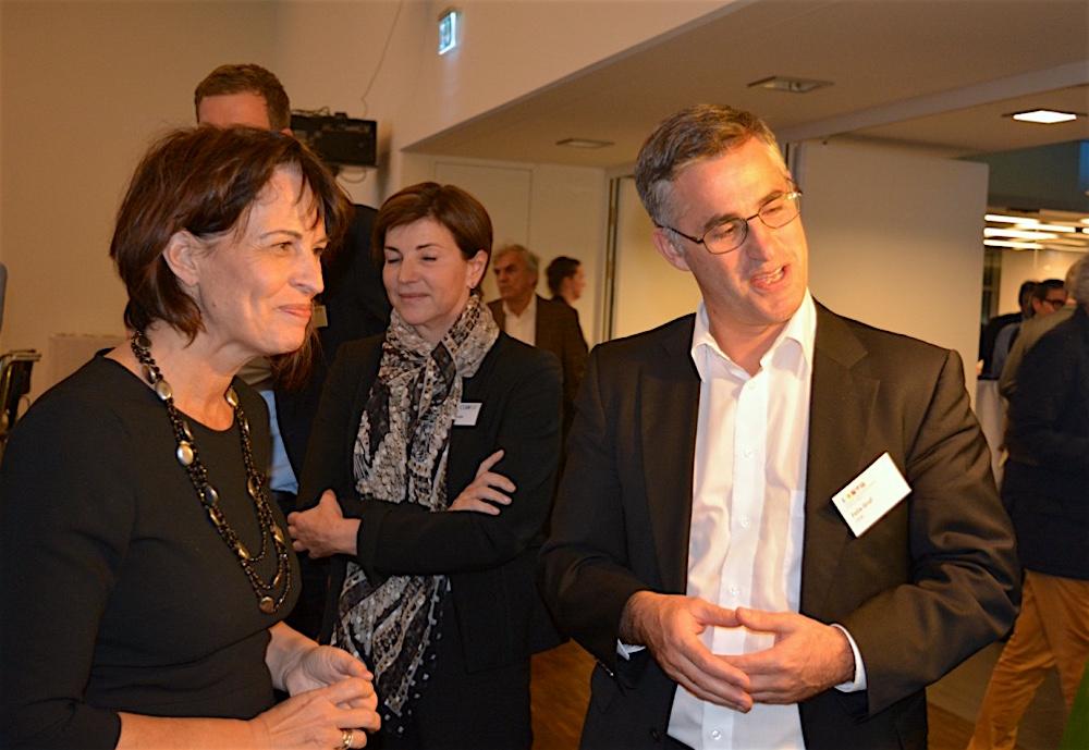 Doris Leuthard im Gespräch mit CKW-Chef Felix Graf.