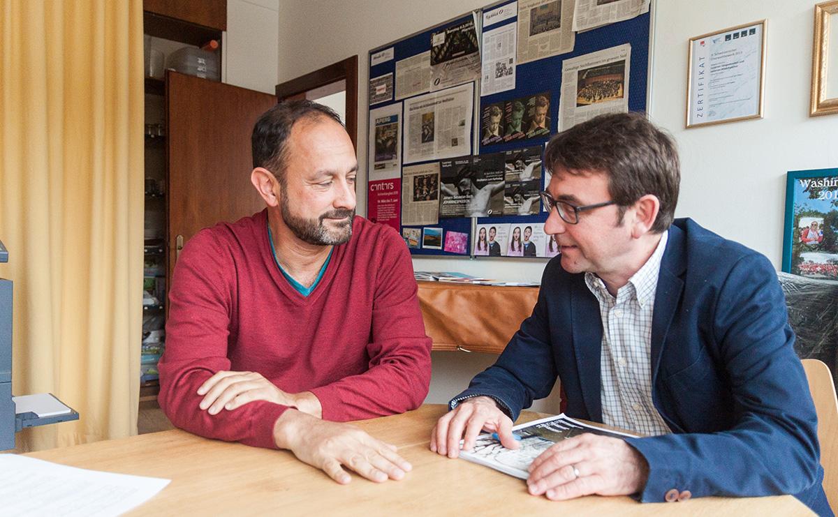 Die gleichberechtigten Partner der BA Media Bruno Affentranger und Angel Gonzalo.