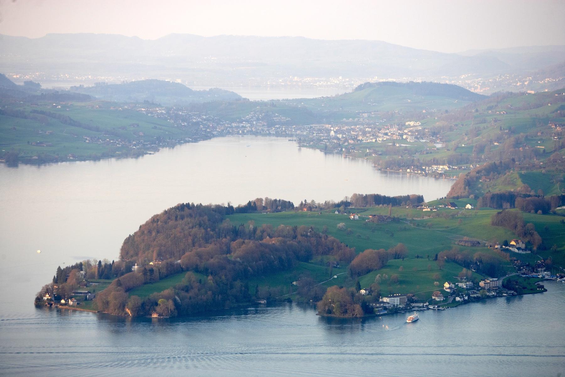 Halbinsel Hertenstein: Hier ist Fluri privat oft anzutreffen.