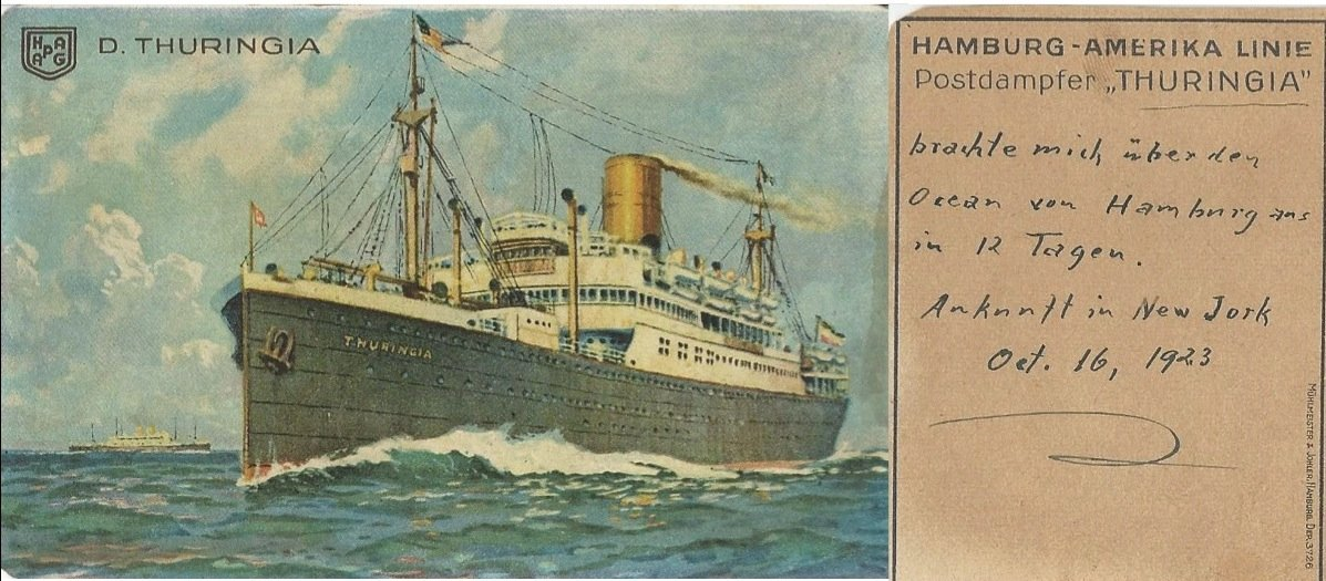 Die Postkarte von Lottenbachs Reise.