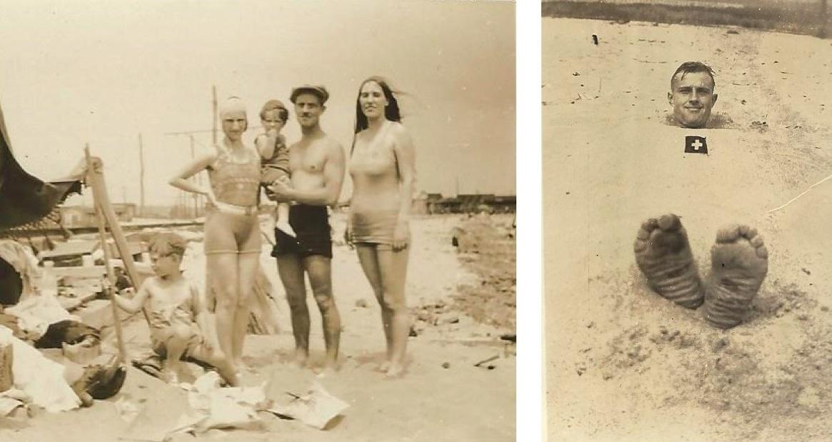 Die Lottenbachs geniessen den Strand.