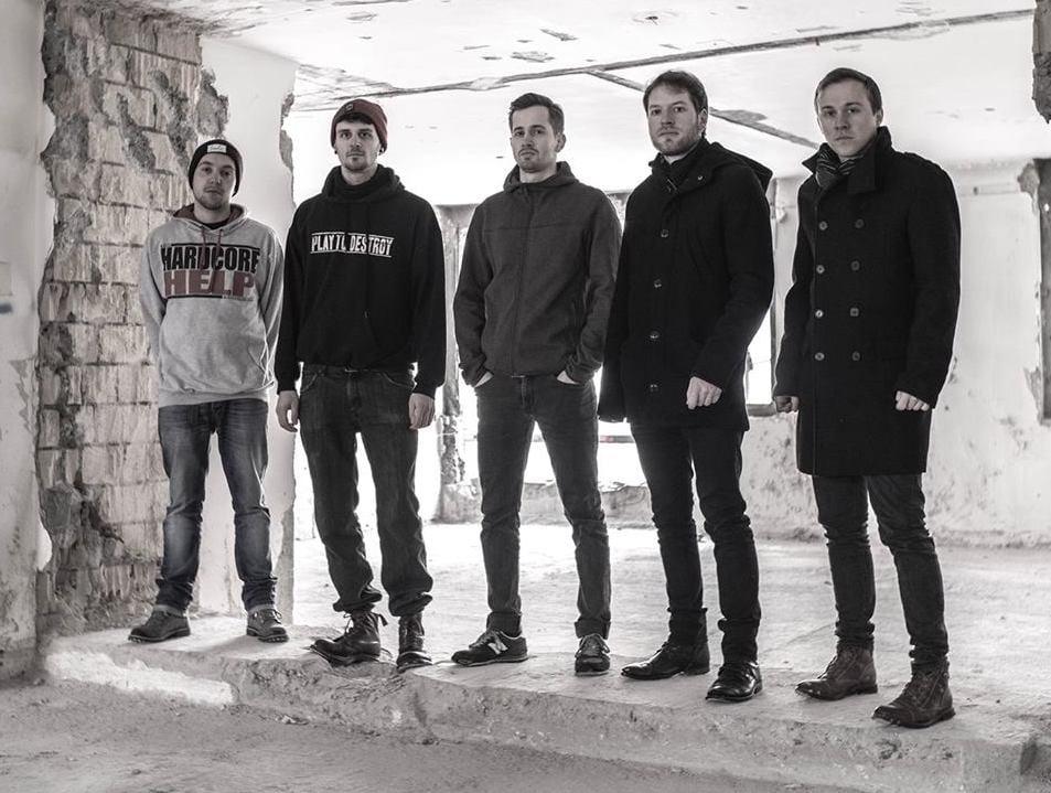 Die ganze Band: Felix Mechelke, Tobias Wiler, Sebastian Schenk, Dino Meier, Christoph Walker
