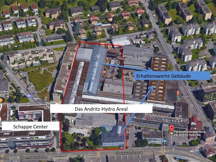 Ein Gebiet von rund 12'000 Quadratmetern steht in Kriens zum Verkauf. Die ungefähre Ausprägung des Areals innerhalb der roten Linie.