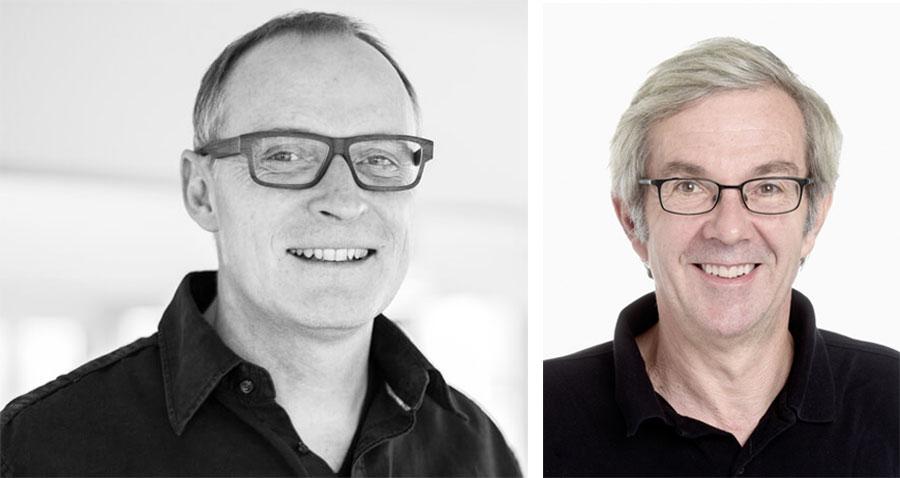Markus Schulthess vom Quartierverein (links) und Architekt Dieter Geissbühler.