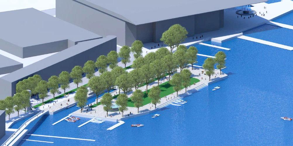 Eine alte Vision erhält Auftrieb: Das Inseli würde wieder zur Insel, wenn es nach Architekt Frieder Hiss geht.