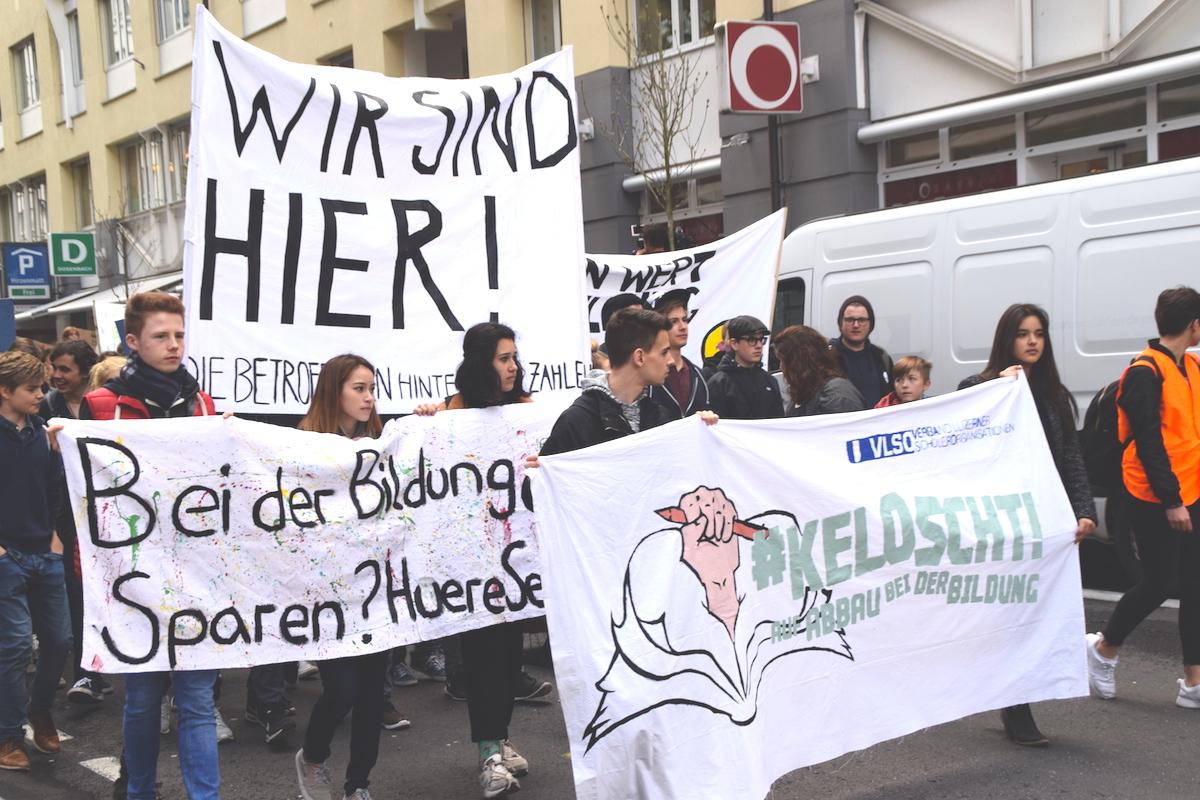 #KeLoscht auf Bildungsabbau: Das Motto an vorderster Front.
