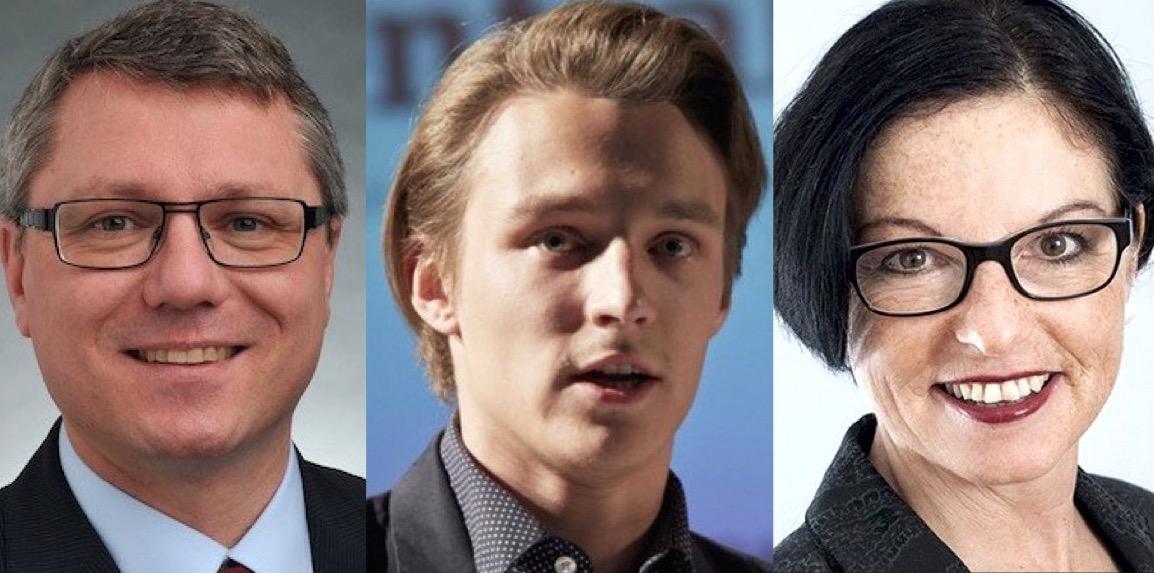 SP-Kantonsrat Jörg Meyer, Juso-Chef Yannick Gauch und SP-Kantonsrätin Helene Meyer-Jenni.