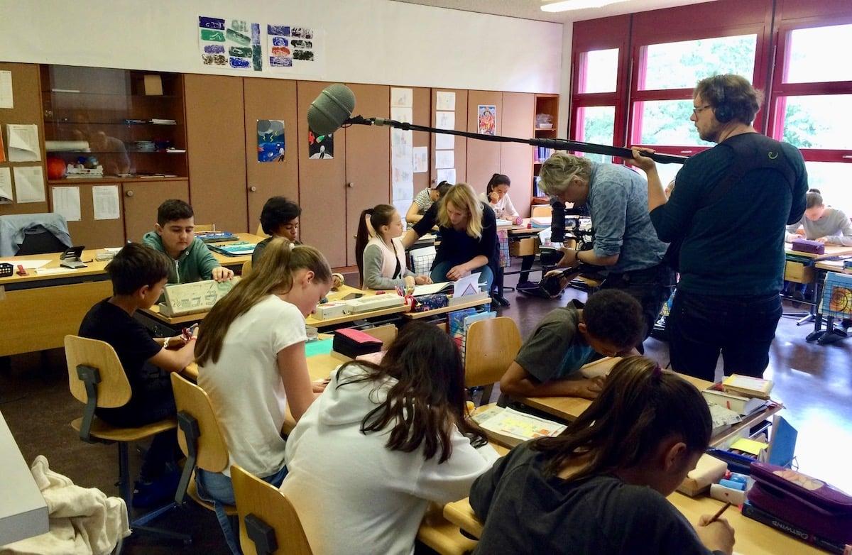 Auch in der Schule wurde gefilmt.