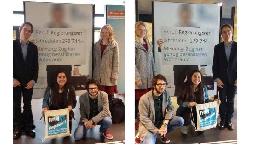 Diese beiden Bilder sorgen in Zug für eine superprovisorische Verfügung des Kantonsgerichts.