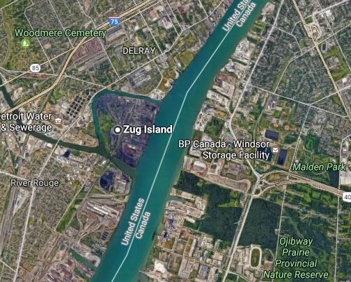 Unweit von Detroit gibt es eine Insel mit dem Namen Zug.