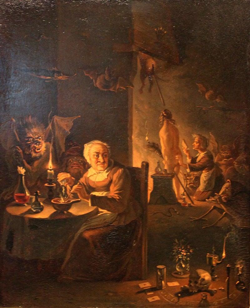 Das Gemälde «Auf dem Weg zur Walpurgisnacht», 1760, Teniers d.J.