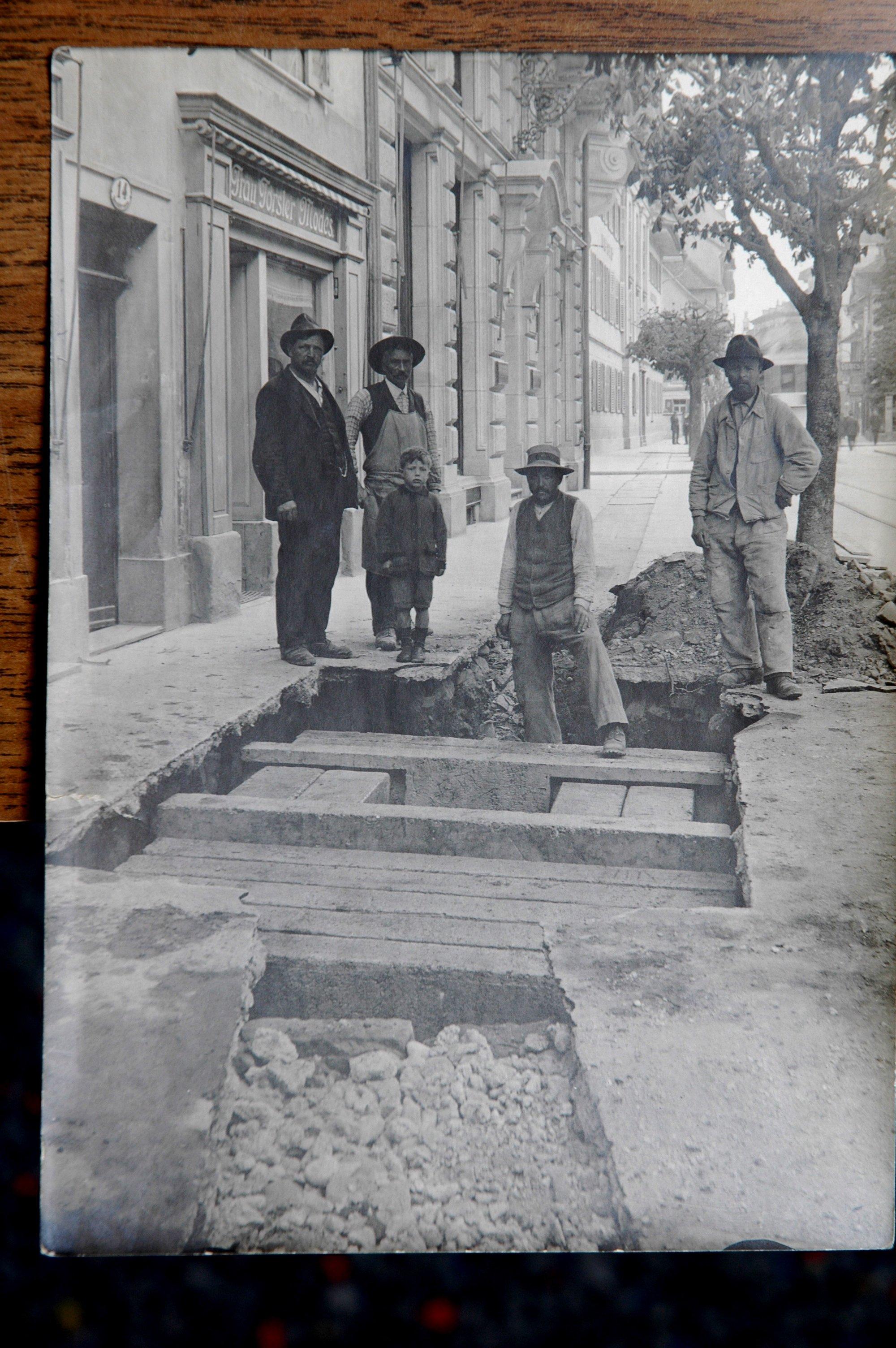 Bauarbeiter in der Baselstrasse