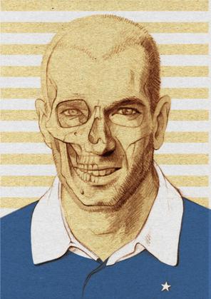 Zinédine Zidane, gezeichnet von Nadja Stadelmann.