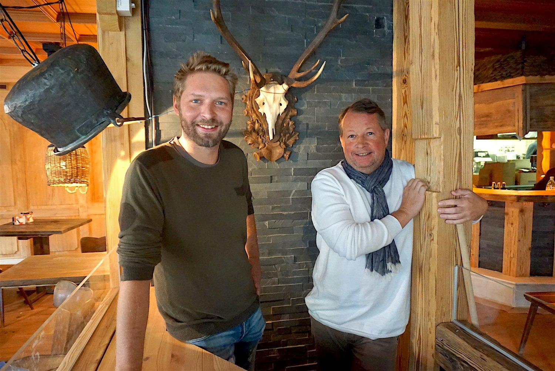 Philipp Hüsler (links) und Saemi Honegger führen neu mit Simon Märki den «Jodlerwirt» in Luzern.