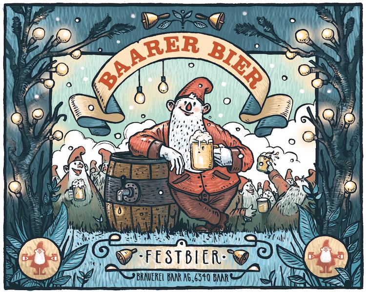 Eine Arbeit von Milan Hofstetter für das Baarer Bier.