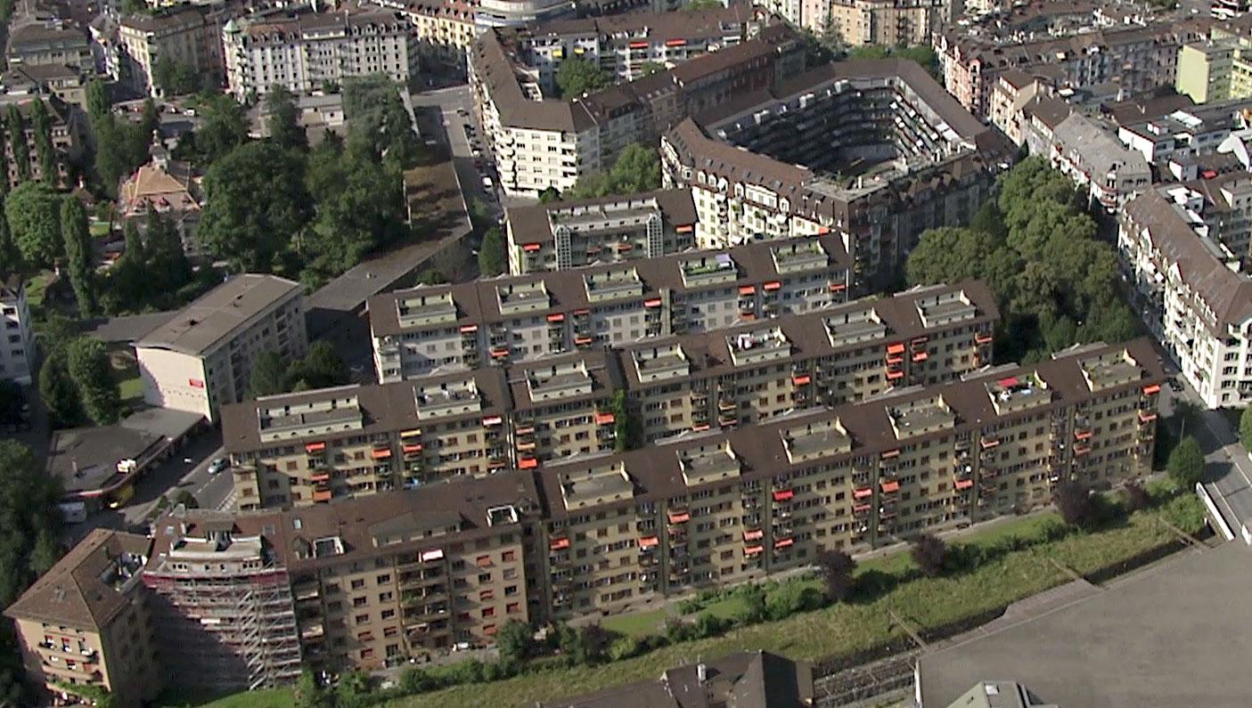 So sah die Siedlung früher aus … (Bild: zvg/Jörg Huwyler)