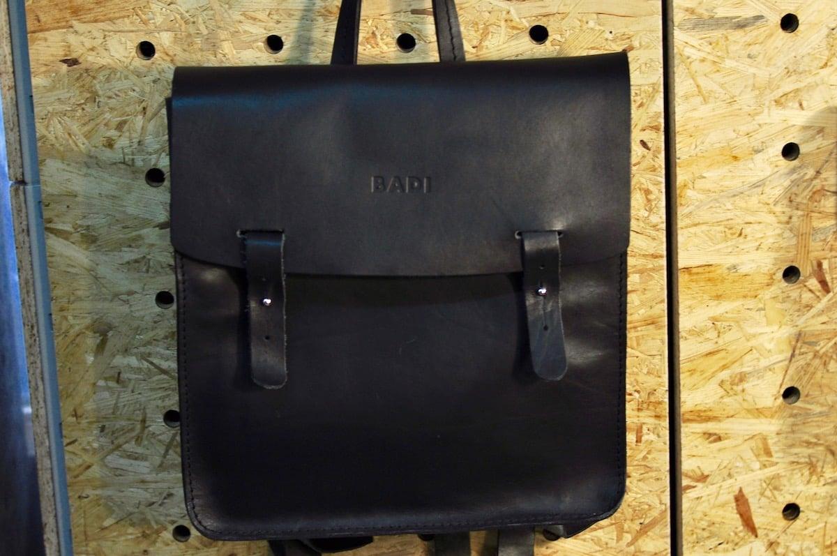 Der Badi-Rucksack aus natürlich gegerbtem Leder.