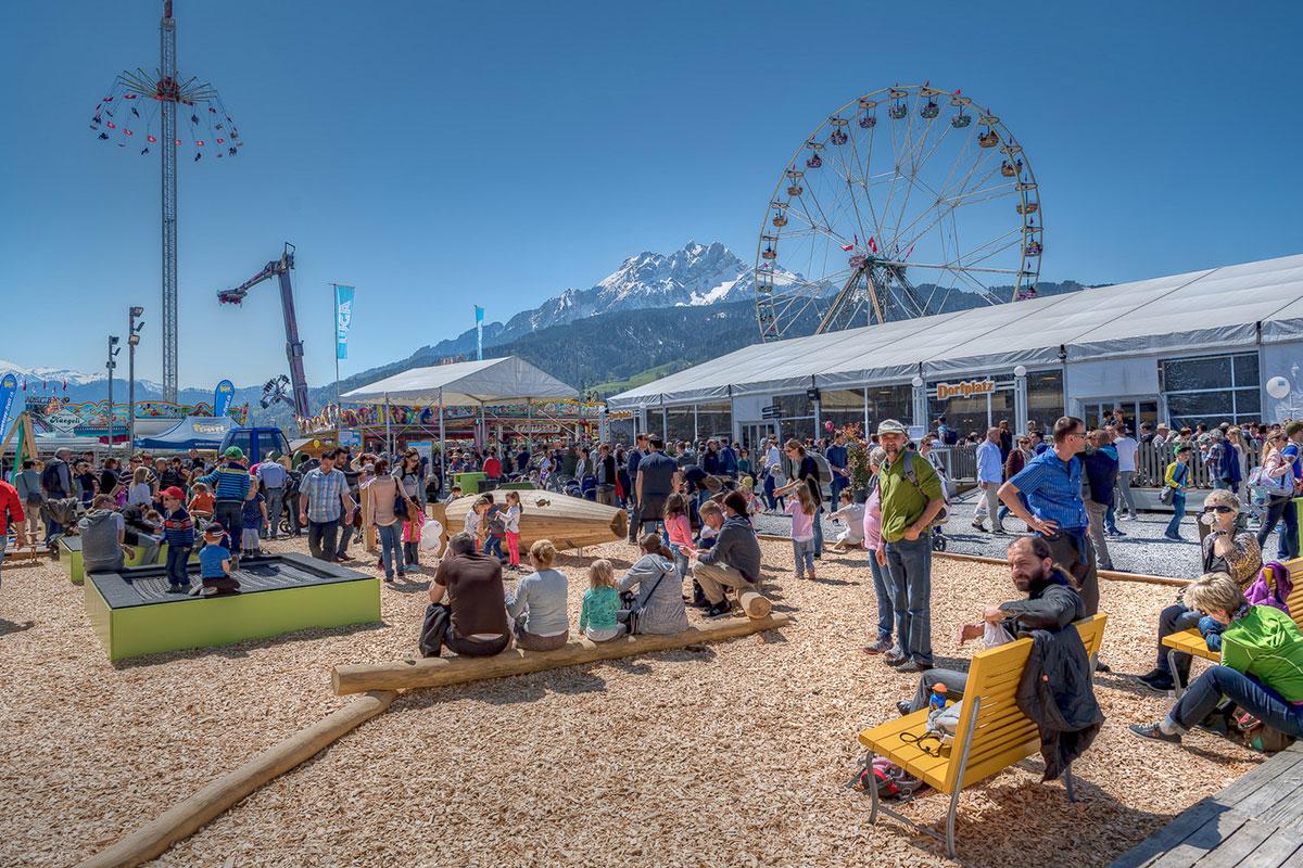 Das Luga-Angebot zog heuer wieder viele Besucher auf die Luzerner Allmend.