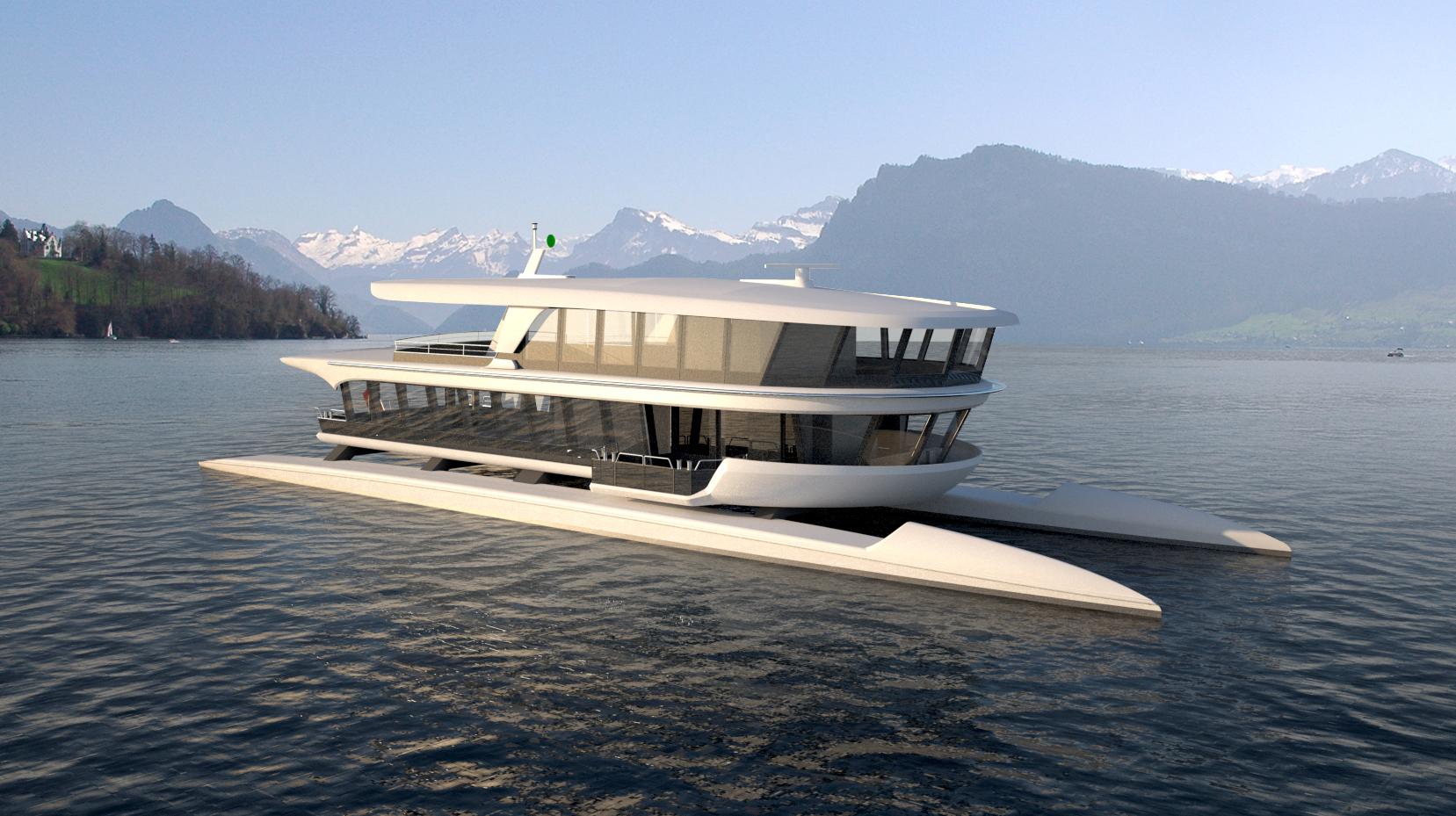Die MS Bürgenstock, ein schneller Katamaran für 300 Passagiere, kommt ab 2018 als Shuttle zum Einsatz.