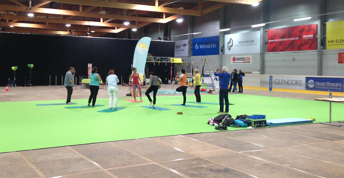 Fit und beweglich – Training in der Curling-Halle