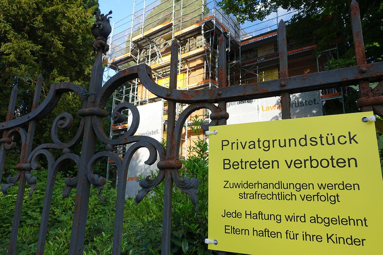 Jørgen Bodum will keine Eindringlinge mehr auf seinem Grundstück an der Obergrundstrasse 101.