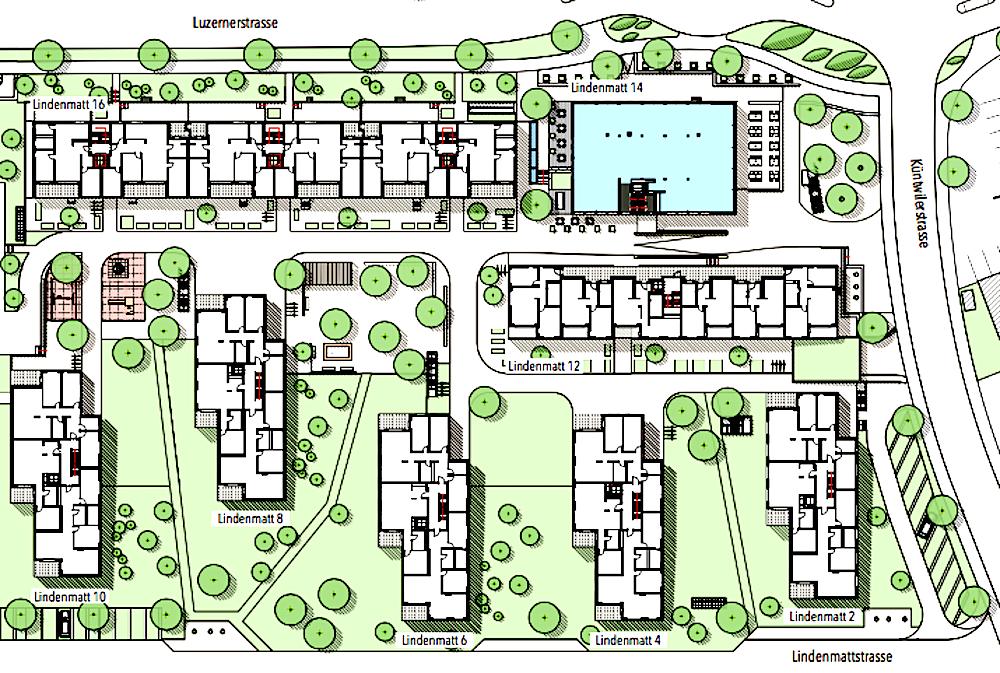 So soll die Lindenmatt-Überbauung in rotkreuz aussehen.