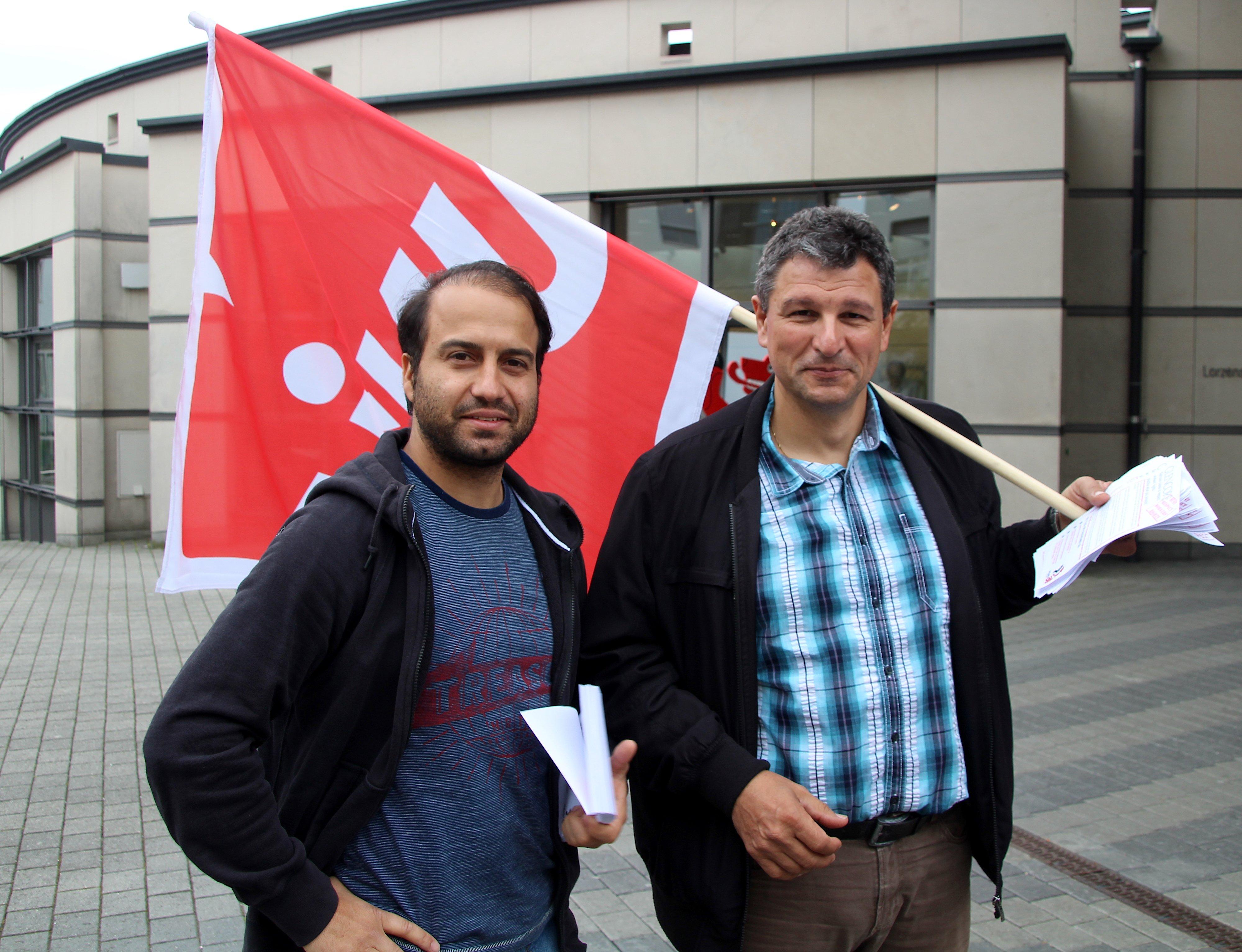 Mutterseelenallein: Alex Granato und Christiano Azevedo von der Unia.