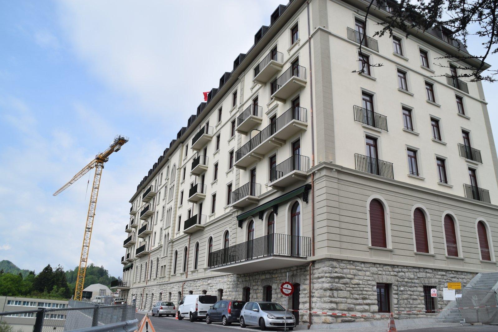 Das Hotel Palace ist bereits offen.
