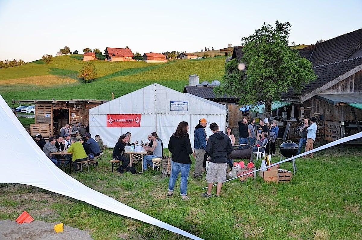 Eindruck des familiären Festivals in Allenwinden.