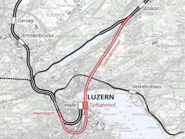 So soll die Strecke einst verlaufen, wenn der Tiefbahnhof gebaut ist.