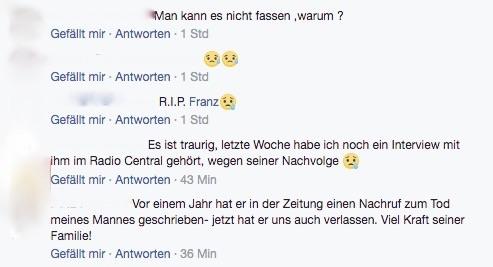 Die Bestürzung über den unerwarteten Tod ist auch in der Facebook-Gruppe «du bisch vo Lozärn, wenn...» gross.