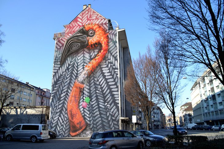 So würde das Luzerner Künstler-Duo Queen Kong Luzern verschönern.