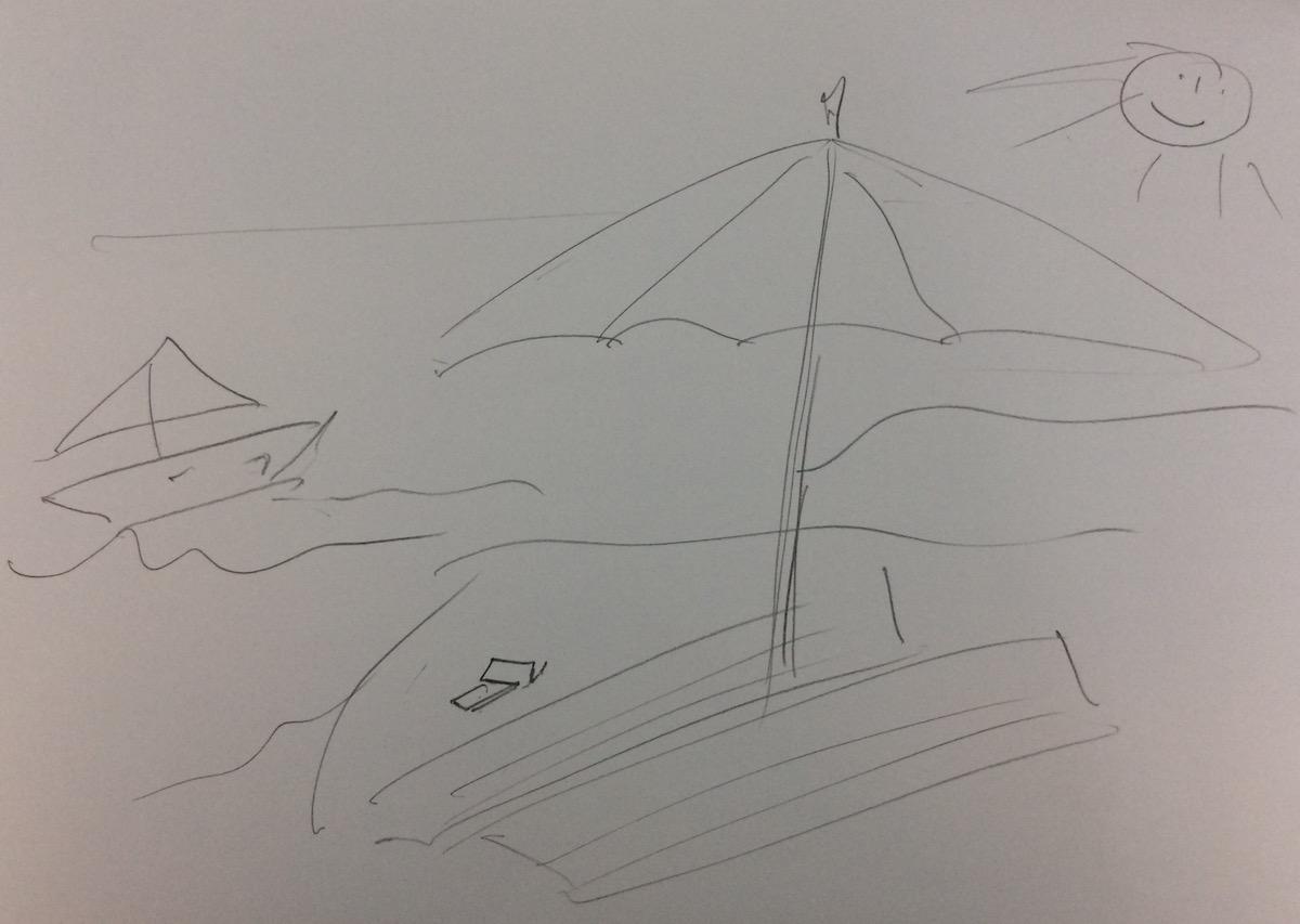 Sergio Sardella zeichnet seinen Traumurlaub.