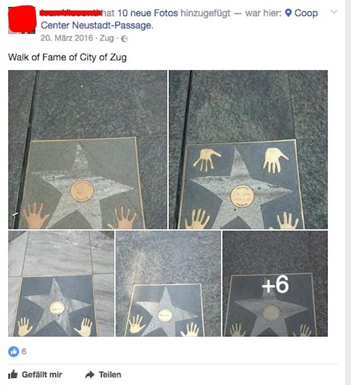 Dieser Passant hat die Sterne fotografisch festgehalten.